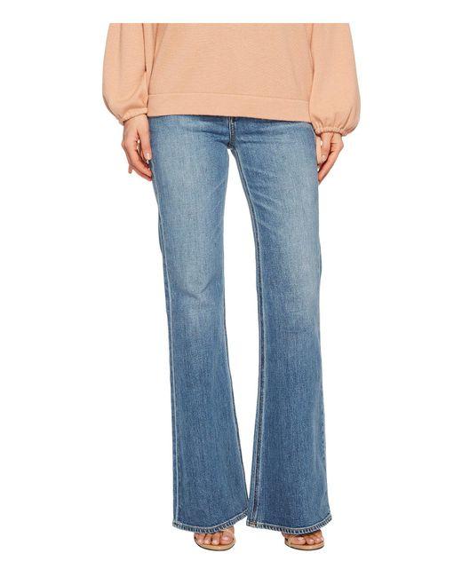 Vince - Blue Wide Leg Flare Jeans In Santa Fe - Lyst