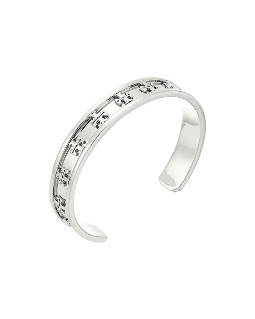 Tory Burch - Metallic Raised Logo Cuff Bracelet (tory Gold) Bracelet - Lyst