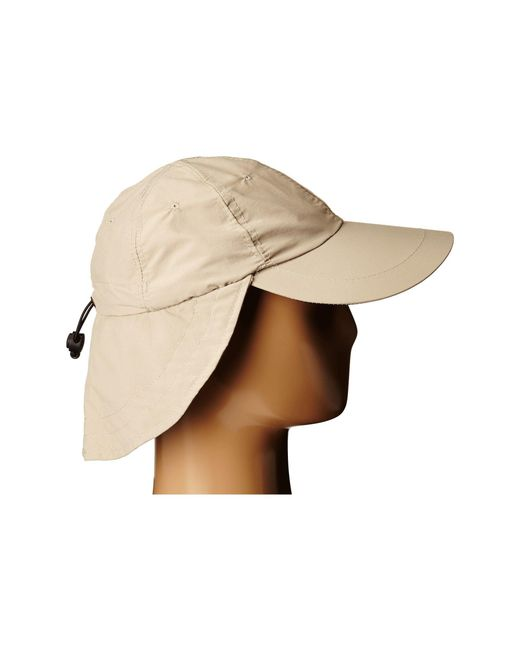 16a016f1080 ... Stetson - Brown No Fly Zone Nylon Cap With Sun Shield (khaki) Caps for  ...