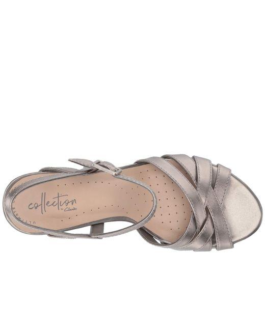 42843bac9db ... Clarks - Multicolor Adriel Wavy (pewter Leather) High Heels - Lyst ...