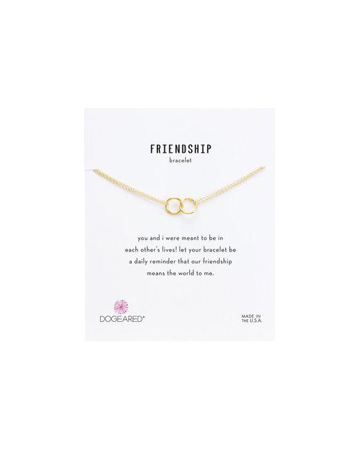 Dogeared - Metallic Friendship Double Linked Rings Chain Bracelet - Lyst
