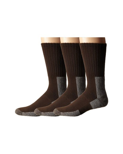 Thorlo - Brown Trail Hiking Crew 3 Pair Pack (chestnut) Men's Crew Cut Socks Shoes for Men - Lyst