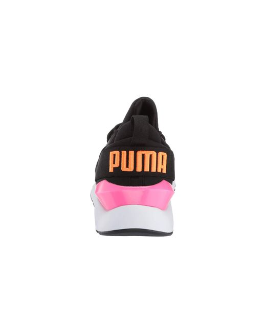 be50c395b9a6 ... PUMA - Muse Chase ( Black knockout Pink) Women s Lace Up Casual Shoes  ...