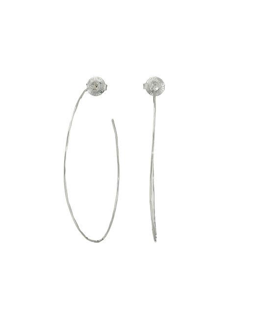 Robert Lee Morris - Metallic Large Hammered Wire Hoop Earrings - Lyst
