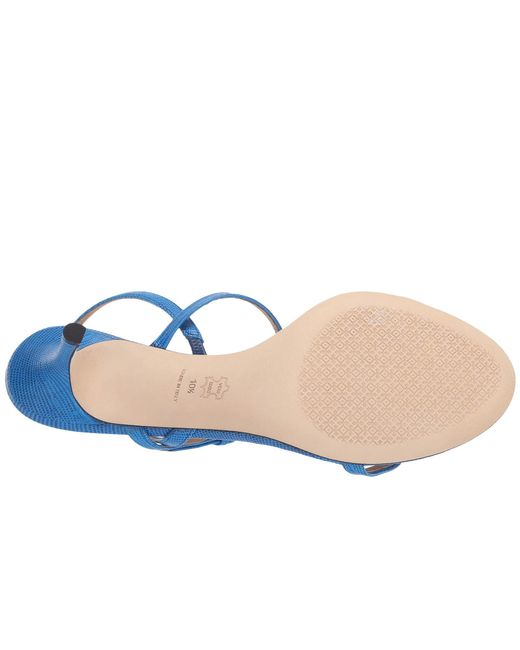 28e299c17a3f ... Tory Burch - Blue Penelope Slingback Sandal - Lyst ...