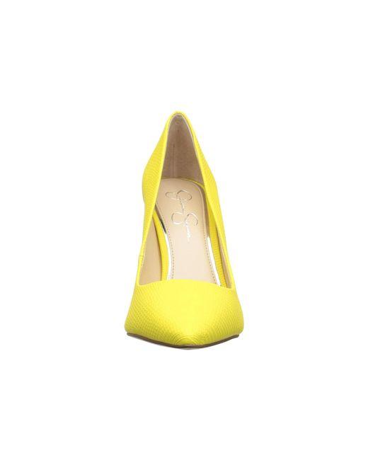 c6246ba5d3c ... Jessica Simpson - Yellow Praylee (black Soft Nappa Silk) High Heels -  Lyst