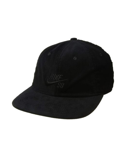 a921f5aaa60 ... best price nike h86 flatbill black black baseball caps for men lyst  862b8 9e3d1