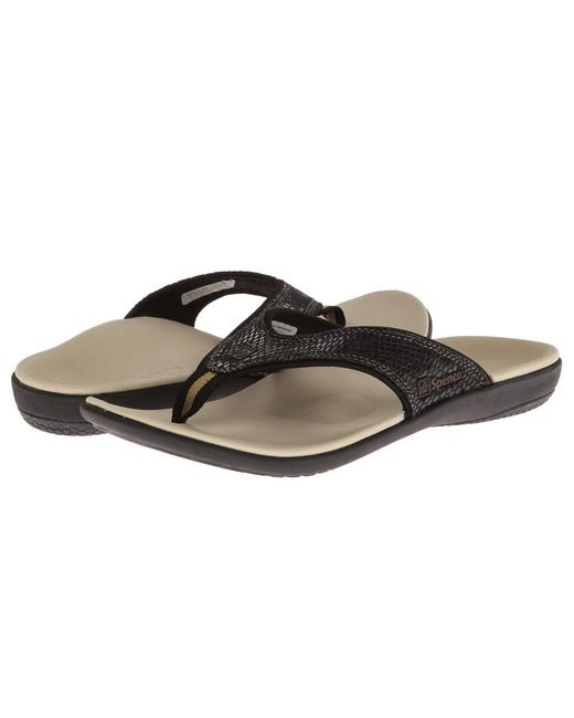 Spenco - White Yumi Snake (black Snake Emboss) Women's Toe Open Shoes - Lyst
