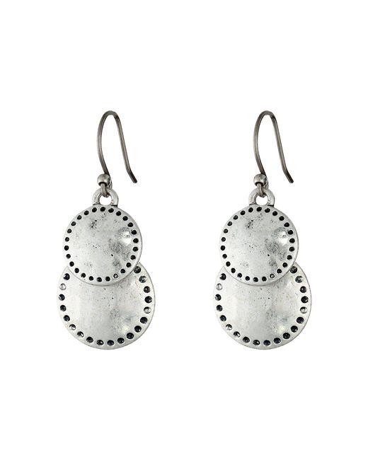 Lucky Brand - Metallic Double Drop Earring - Lyst