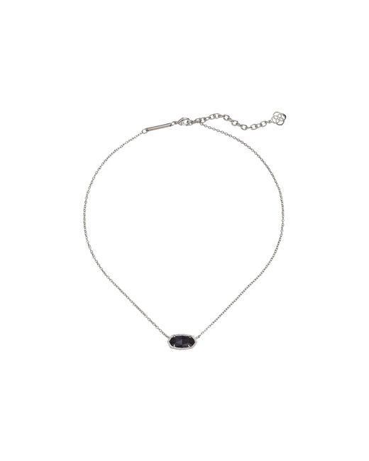 Kendra Scott - Black Elisa Pendant Necklace (rose Gold/iridescent Drusy) Necklace - Lyst