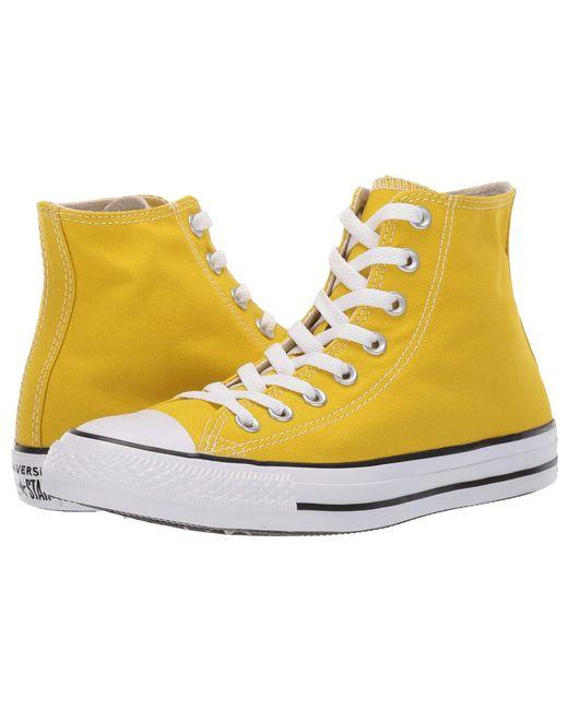 Lyst - Converse Chuck Taylor(r) All Star(r) Seasonal Hi (bold Citron ... f8e24f4e9