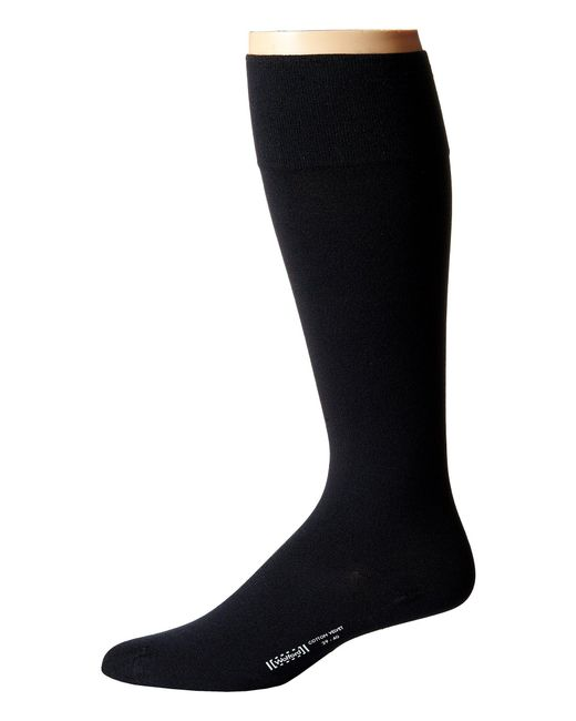 Wolford - Black Cotton Velvet Knee-highs for Men - Lyst