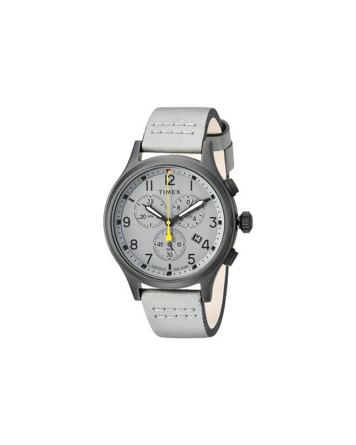 Timex - Gray Allied Chrono Leather (grey/grey) Watches for Men - Lyst