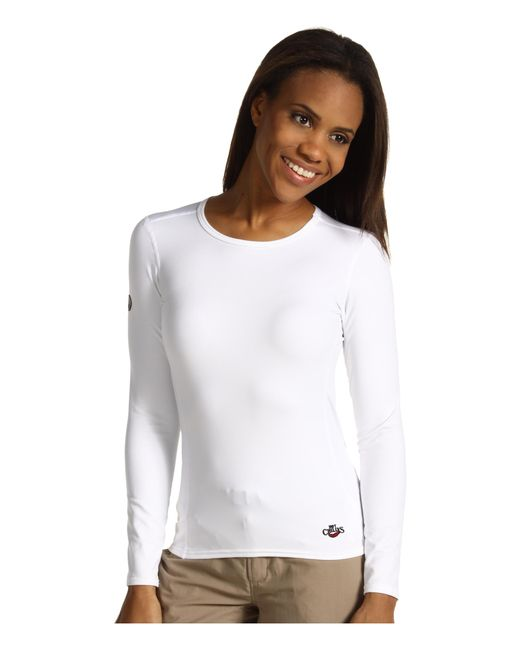 Hot Chillys | White Micro-elite Chamois 8k Crew Neck | Lyst