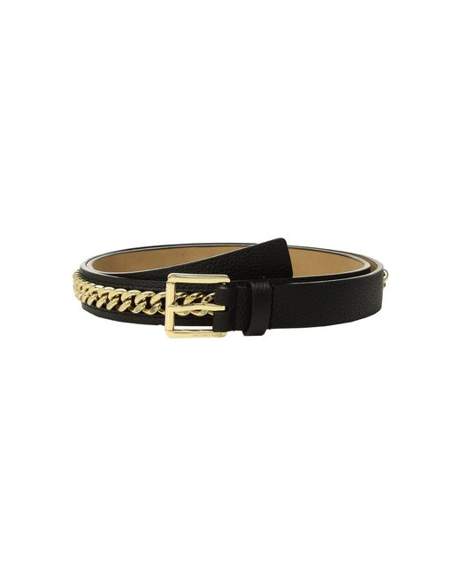MICHAEL Michael Kors - Black Mini Pebble Chain Belt - Lyst