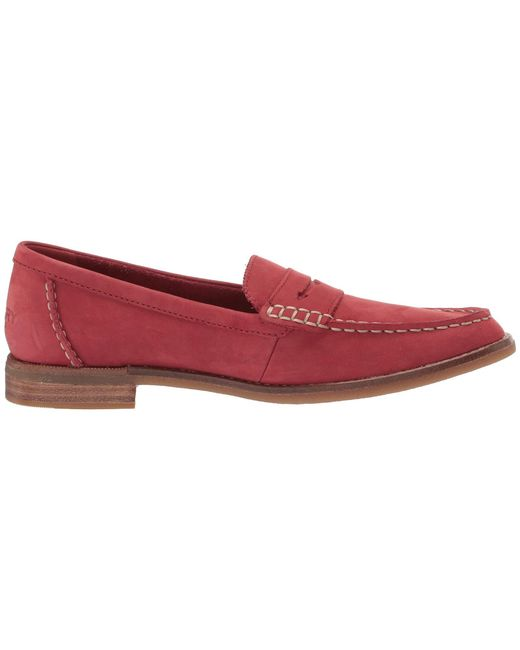 35edd94c761 Lyst - Sperry Top-Sider Seaport Penny Nubuck Loafer in Red - Save 10%