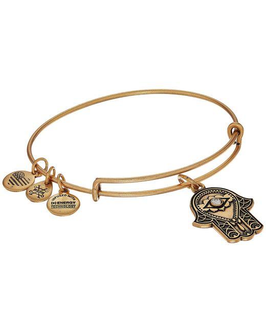 ALEX AND ANI - Metallic Path Of Symbols-hand Of Fatima Iii Bangle (rafaelian Gold) Bracelet - Lyst