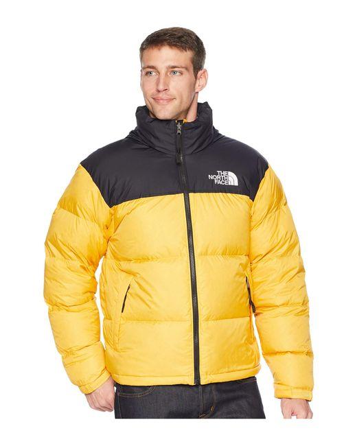 510735b0e028 ... 50% off the north face yellow 1996 nuptse jacket tnf medium grey  heather mens coat