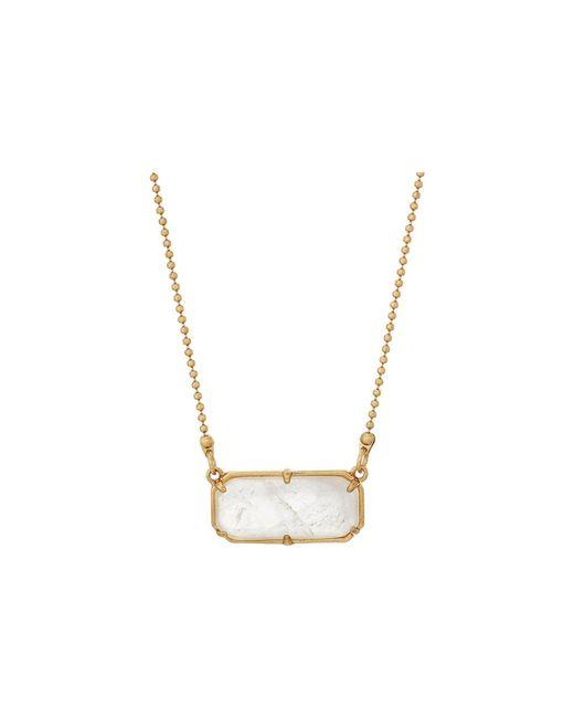 """Lauren by Ralph Lauren - Metallic 16"""" Short Stone Pendant Necklace - Lyst"""