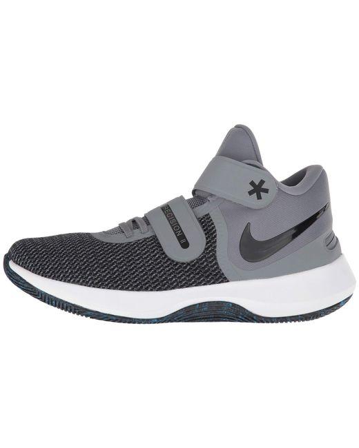 ... Nike - Gray Air Precision Ii Flyease (black white volt) Men s Basketball  ... aba8626c6