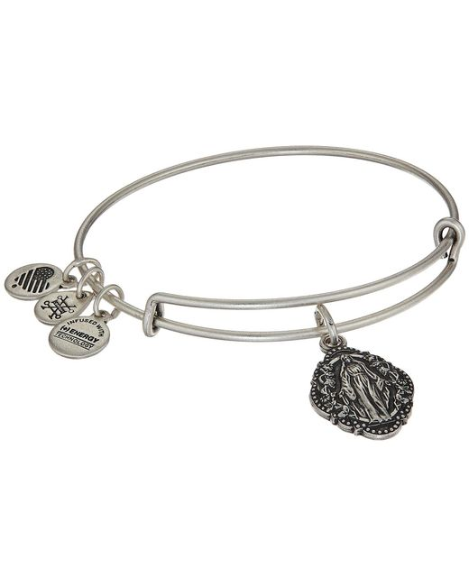 ALEX AND ANI - Metallic Mother Mary Iii Bangle (rafaelian Silver) Bracelet - Lyst