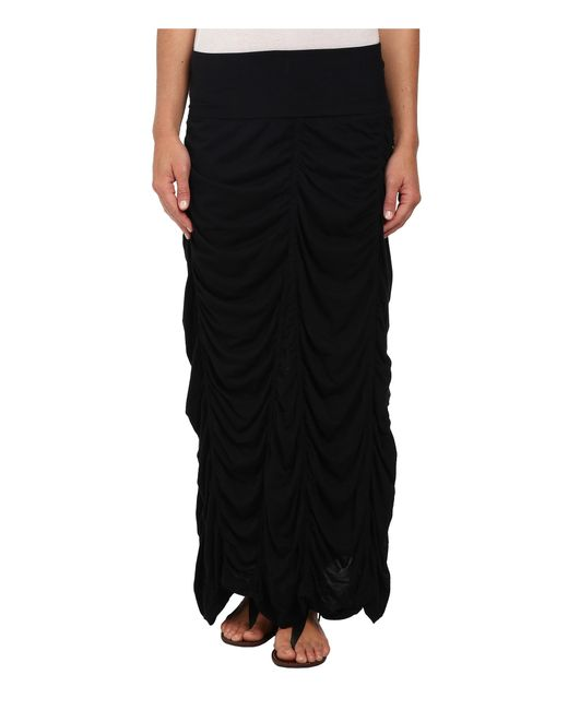 XCVI   Black Jersey Peasant Skirt   Lyst