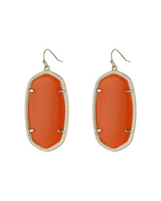 Kendra Scott   Orange Danielle Earrings   Lyst