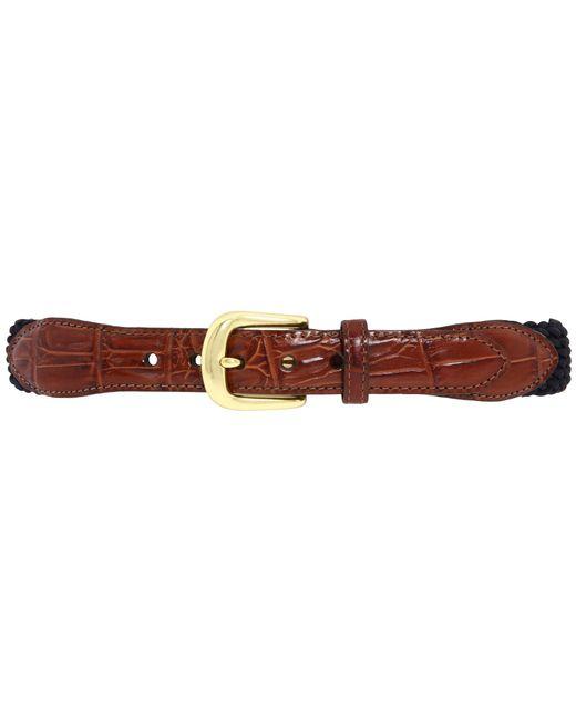 Brighton | Blue Elastic Cord Croco Tab Taper Belt for Men | Lyst