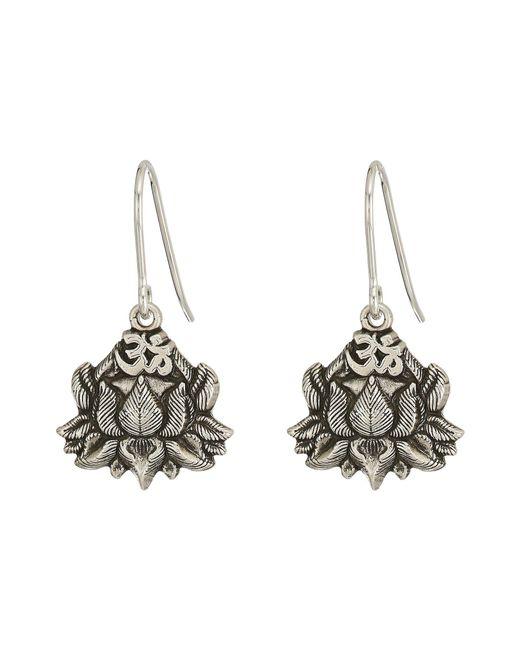 ALEX AND ANI - Metallic Lotus Peace Petals Hook Earrings (rafaelian Silver) Earring - Lyst
