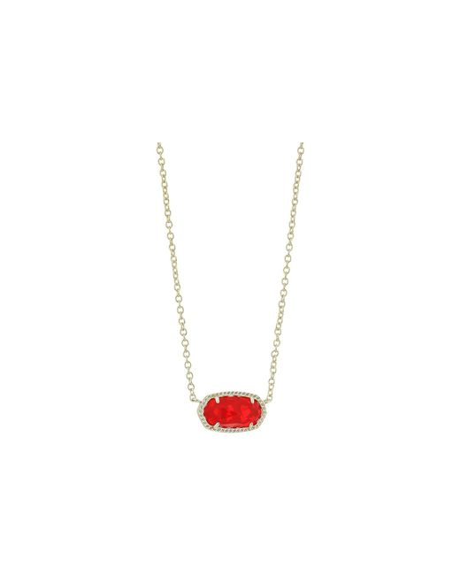 Kendra Scott - Multicolor Elisa Birthstone Necklace (may/gold/emerald Cat's Eye) Necklace - Lyst