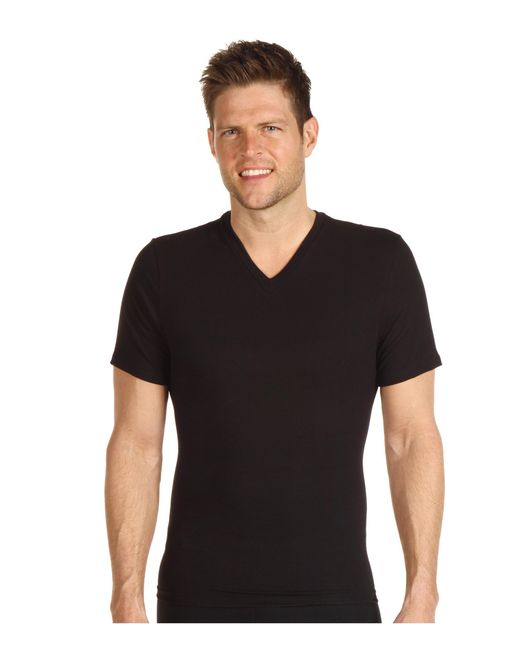 Spanx | Black Cotton Compression V-neck for Men | Lyst