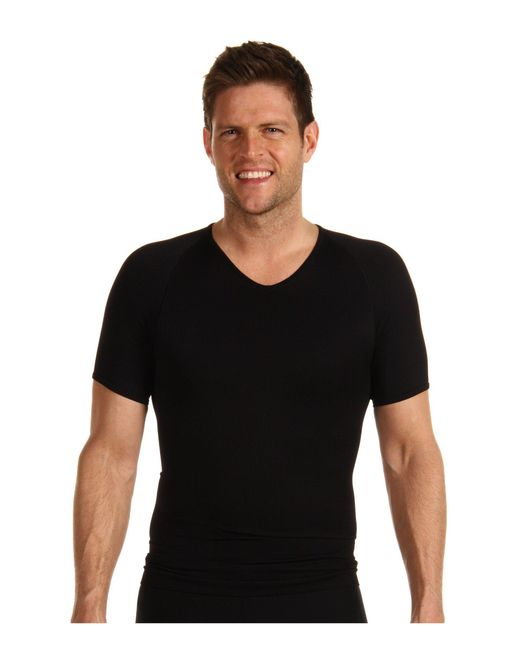 Spanx | Black Zoned Performance V-neck for Men | Lyst