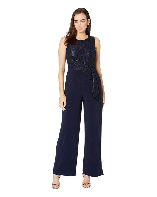 c143d27fd76e Lauren by Ralph Lauren - Blue 6r Matte Jersey Toki Jumpsuit (lighthouse  Navy) Women s ...
