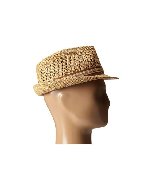 ... Tommy Bahama - Brown Vent Crochet Raffia Fedora (tea) Fedora Hats for  Men ... 9315cd6394cb
