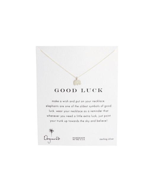 Dogeared | Metallic Good Luck Elephant Reminder Necklace | Lyst