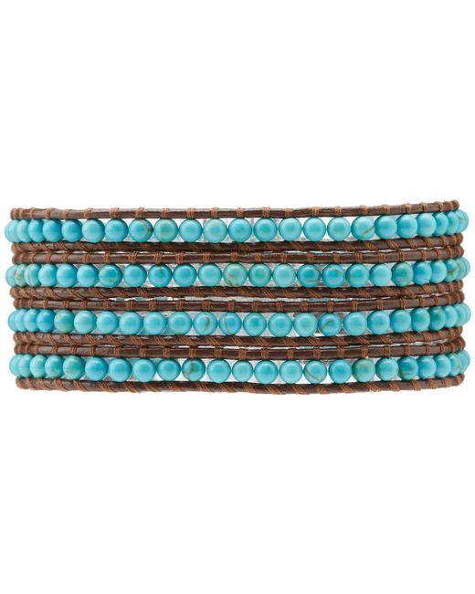 Chan Luu | Blue Semiprecious Stone Wrap Bracelet | Lyst