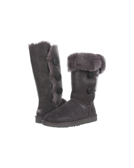 Ugg | Gray Bailey Button Genuine Sheepskin Boot | Lyst