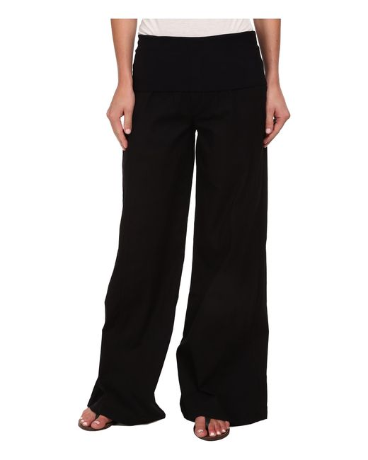 XCVI | Black Swooping Pant | Lyst