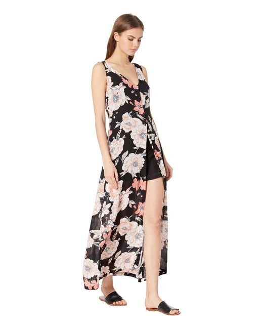 666e4ca16f5 ... Roxy - Multicolor Flowers Crown Maxi Overlay Romper (anthracite New  Flowers) Women s Dress -