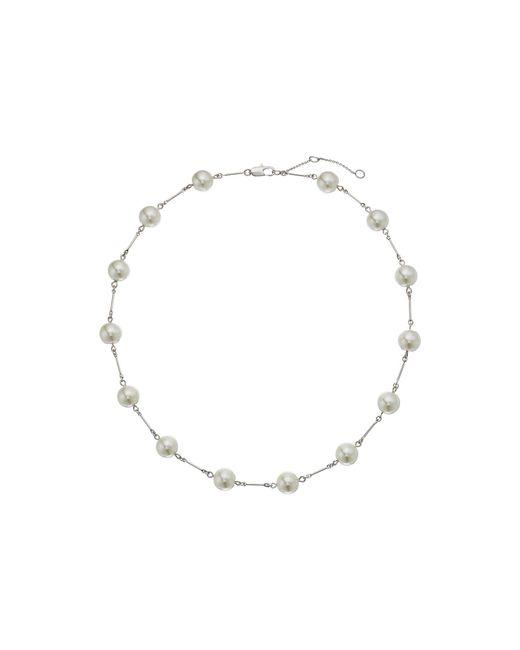 Lauren by Ralph Lauren - Metallic Headlines 18 In Pearl Collar Necklace - Lyst