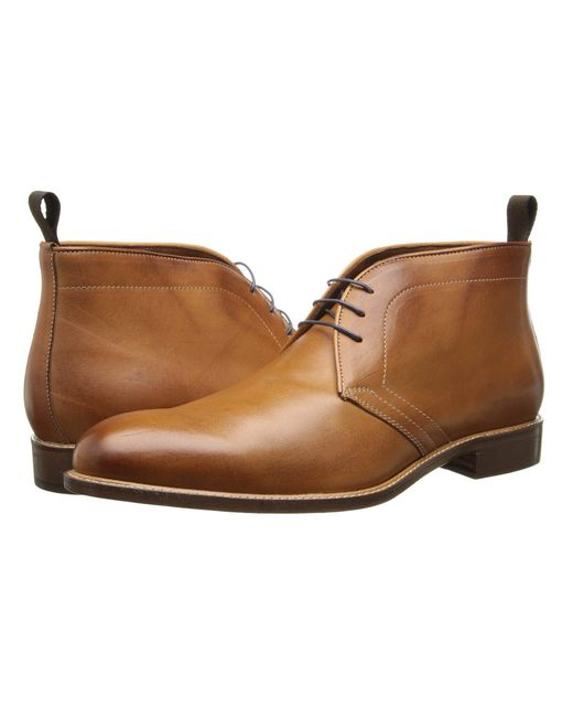 Massimo Matteo - Orange 3-eye Chukka (bordo) Men's Lace-up Boots for Men - Lyst