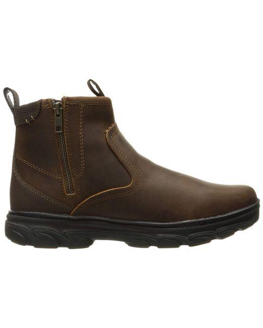 0fe8bddef2e1ef ... Skechers - Relaxed Fit Resment Korver (dark Brown) Men s Boots for Men  ...