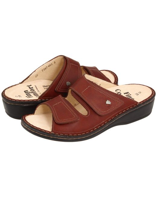 Finn Comfort - Brown Jamaica - 82519 (brandy Country Soft Footbed) Women's Slide Shoes - Lyst