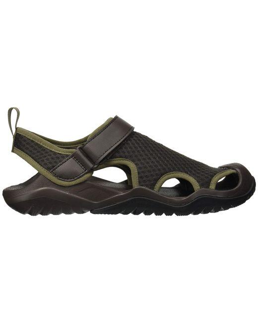 e29b000f1dbb ... Crocs™ - Brown Swiftwater Mesh Deck Sandal (black) Men s Sandals for  Men ...