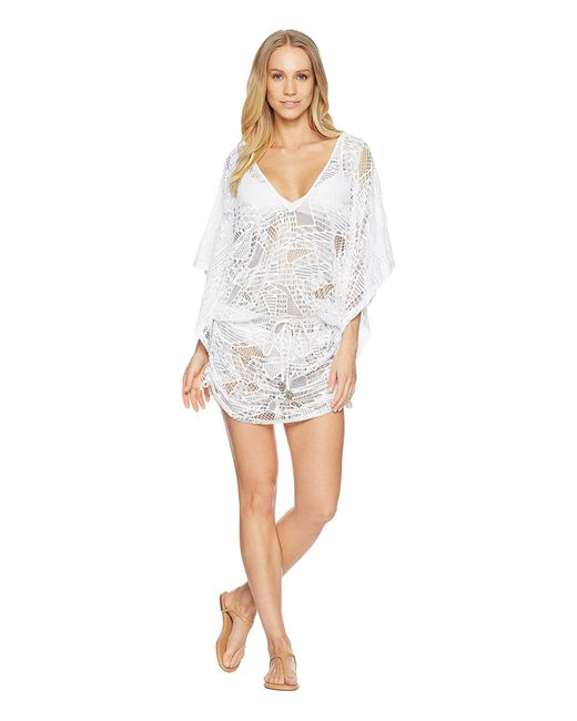 Luli Fama - White El Carnaval Cabana V-neck Dress - Lyst