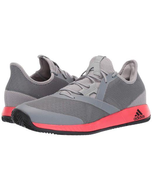 3b5c84be171 Adidas - Gray Adizero Defiant Bounce (light Granite shock Red core Black)  ...
