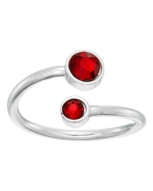 ALEX AND ANI - Red Birthstone Ring Wrap (sterling Silver/march) Ring - Lyst