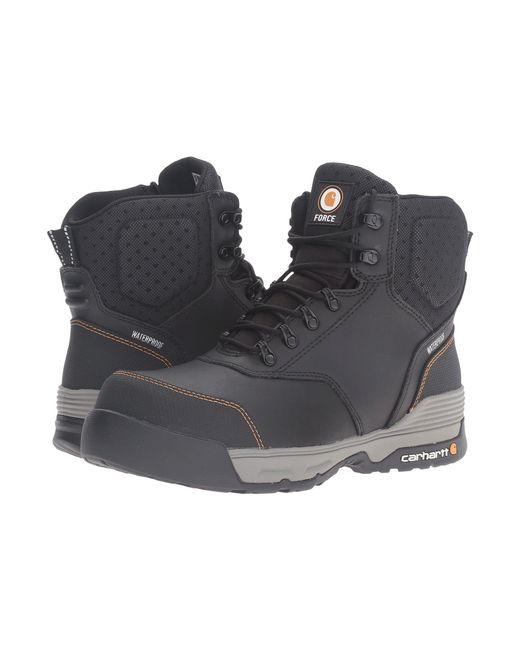 c815fd28f3197 Carhartt - 6 Waterproof Work Boot (black Leather) Men's Work Boots for Men  ...