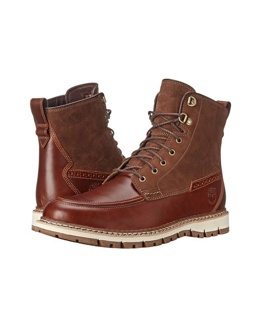 Timberland   Brown Britton Hill Waterproof Moc Toe Boot for Men   Lyst