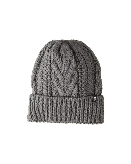 The North Face - Gray Cable Minna Beanie (fig) Beanies - Lyst